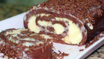 Rocambole de Chocolate uma receita perfeita para sua sobremesa