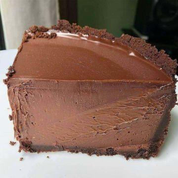 Torta de chocolate hiper cremosa