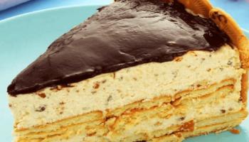 Torta holandesa de biscoito maisena fácil e deliciosa