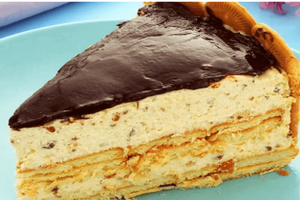 Torta holandesa de biscoito maisena
